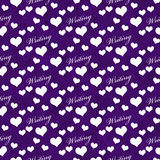 Purple and White I Love Writing Tile Pattern Repeat Background Royalty Free Stock Photography