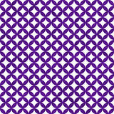 Purple and White Interconnected Circles Tiles Pattern Repeat Bac Royalty Free Stock Photography