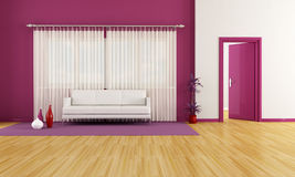 Purple and white lounge Royalty Free Stock Image
