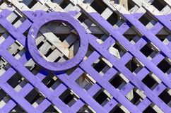 Purple and White Painted Fence Royalty Free Stock Photo