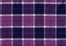 Purple and white plaid fabric texture stock photography