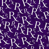 Purple and White Prescription symbol Pattern Repeat Background Royalty Free Stock Images