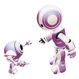 Purple and white robots Royalty Free Stock Photography