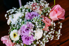 Purple and white rose bouquet Royalty Free Stock Photos