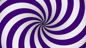 Purple and white rotating hypnosis spiral