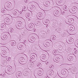 Purple and white swirls on purple background Stock Photos
