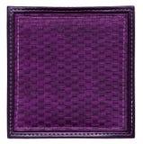 Purple wicker frame isolated Stock Photos