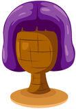 Purple wig on mannequin head Royalty Free Stock Photo