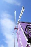 Purple windmill Stock Photo