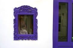 Purple window Stock Photo