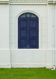 Purple window with white wall Stock Image
