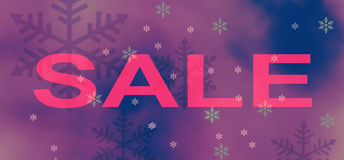 Purple winter sale background Royalty Free Stock Photos