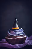Witch hat cupcakes Stock Image