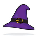 Purple witch's hat Royalty Free Stock Photos