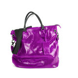 Purple women bag Royalty Free Stock Image