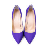 Purple women's shoes Stock Photos