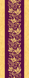Purple wooden flowers vertical seamless pattern Royalty Free Stock Image