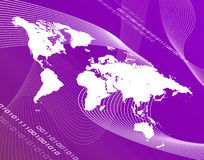 Purple World. A world map montage over a green background royalty free illustration