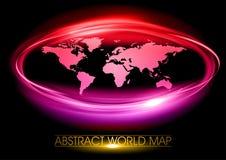 Purple world. On the black background royalty free illustration