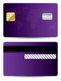 Purple world credit card. Design royalty free illustration