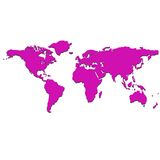 Purple world map Stock Photography