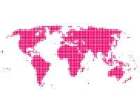 Purple world map. On white royalty free illustration