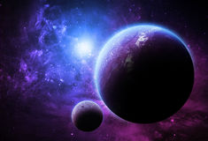 Purple Worlds - Elements of this Image Furnished by NASA Stock Photography
