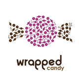 Purple wrapped candy made by candies Stock Photos