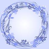 Purple wreath frame Stock Photo