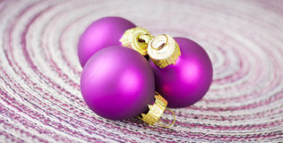 Purple xmas balls Royalty Free Stock Photos