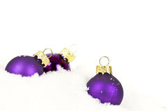 Purple xmas balls Stock Photo