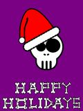 Purple xmas card. An illustration of a skull Royalty Free Stock Photography