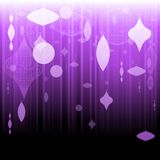 Purple xmas ornament background Royalty Free Stock Photos