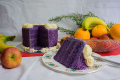 Purple Yam cake Royalty Free Stock Image