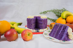 Purple Yam cake Stock Photo