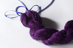 Purple Yarn Stock Photo