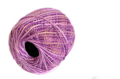 Purple Yarn spool Stock Image
