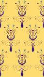 Purple Yellow Abstract Flower Royalty Free Stock Photo