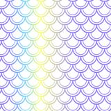 Purple yellow fish scale seamless pattern. Colorful gradient net on white. Fish skin  pattern. Mermaid pattern. Fish seamless pattern tile. Mermaid tail Stock Photo