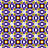 Purple and yellow pattern Stock Images