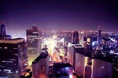 purplelicious的城市 免版税库存照片
