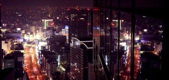 purplelicious stad Arkivfoto