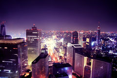 Purplelicious Stadt Lizenzfreie Stockfotos