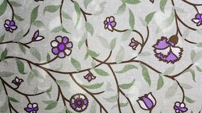 Purplish Flowers Wallpaper Stock Photography