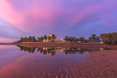 Purplish sunset in borneo. This picture have been taken at Sipitang, Sabah, Malaysia Royalty Free Stock Images