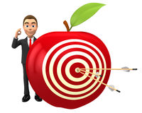 Purpose apple. Apple target with arrows in the center Stock Images