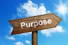 Purpose Drogowy znak obrazy royalty free