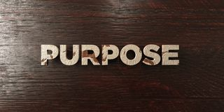 Purpose - grungy wooden headline on Maple  - 3D rendered royalty free stock image Stock Image