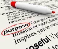 Purpose słownika definici słowa Obiektywna misja Umyślna ilustracji