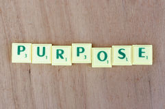 Purpose sign Stock Photo